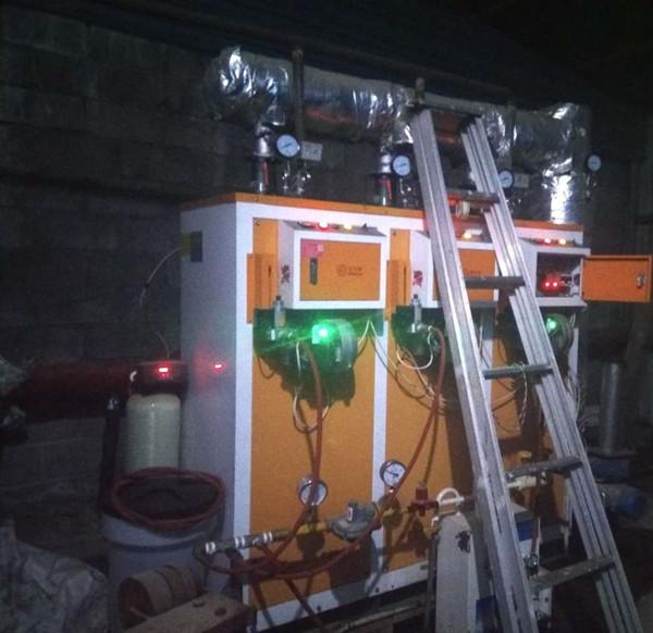 0.3吨燃气蒸汽发生器配套蒸煮黄豆