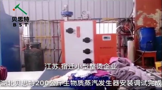 江苏宿qian小型水洗chang200gong斤shengwu质蒸汽发sheng器